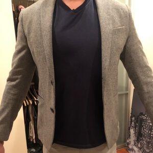 Zara men's grey blazer